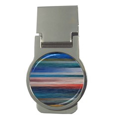 Background Horizontal Lines Money Clips (round)