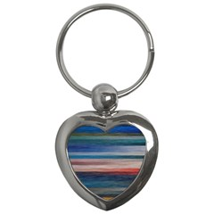 Background Horizontal Lines Key Chains (heart)