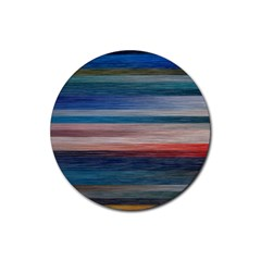 Background Horizontal Lines Rubber Round Coaster (4 Pack)