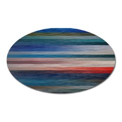 Background Horizontal Lines Oval Magnet