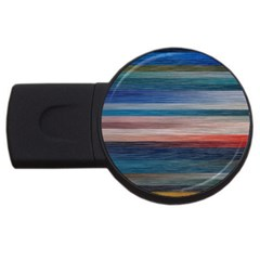 Background Horizontal Lines Usb Flash Drive Round (2 Gb)
