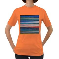 Background Horizontal Lines Women s Dark T Shirt