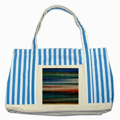 Background Horizontal Lines Striped Blue Tote Bag