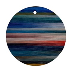 Background Horizontal Lines Round Ornament (two Sides)