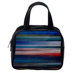 Background Horizontal Lines Classic Handbags (one Side)