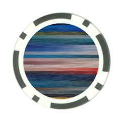Background Horizontal Lines Poker Chip Card Guards (10 Pack)
