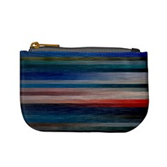 Background Horizontal Lines Mini Coin Purses