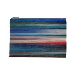 Background Horizontal Lines Cosmetic Bag (large)