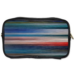 Background Horizontal Lines Toiletries Bags 2-Side