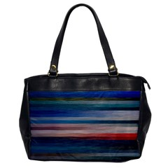 Background Horizontal Lines Office Handbags