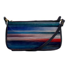 Background Horizontal Lines Shoulder Clutch Bags
