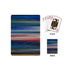 Background Horizontal Lines Playing Cards (mini)