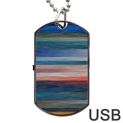 Background Horizontal Lines Dog Tag Usb Flash (one Side)