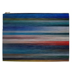Background Horizontal Lines Cosmetic Bag (xxl)