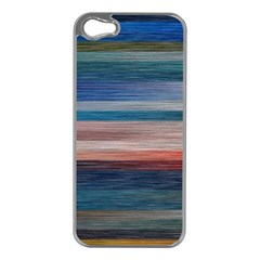 Background Horizontal Lines Apple Iphone 5 Case (silver)