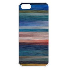 Background Horizontal Lines Apple Iphone 5 Seamless Case (white)