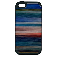 Background Horizontal Lines Apple Iphone 5 Hardshell Case (pc+silicone)