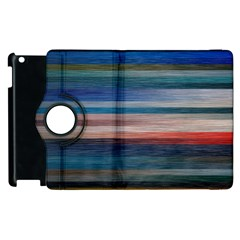 Background Horizontal Lines Apple Ipad 3/4 Flip 360 Case
