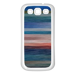 Background Horizontal Lines Samsung Galaxy S3 Back Case (white)