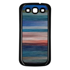 Background Horizontal Lines Samsung Galaxy S3 Back Case (black)