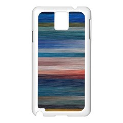 Background Horizontal Lines Samsung Galaxy Note 3 N9005 Case (white)