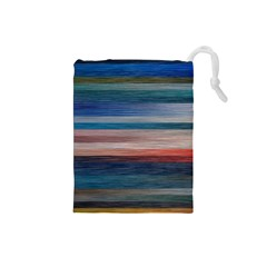 Background Horizontal Lines Drawstring Pouches (small)