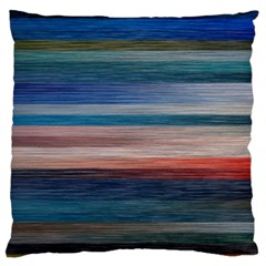 Background Horizontal Lines Large Flano Cushion Case (two Sides)
