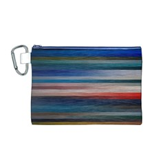 Background Horizontal Lines Canvas Cosmetic Bag (m)