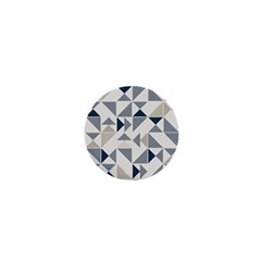 Geometric Triangle Modern Mosaic 1  Mini Buttons