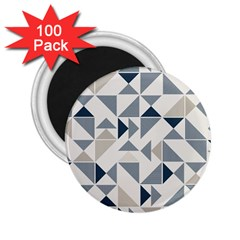 Geometric Triangle Modern Mosaic 2 25  Magnets (100 Pack)