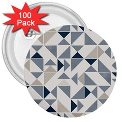 Geometric Triangle Modern Mosaic 3  Buttons (100 pack)