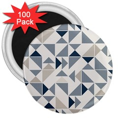 Geometric Triangle Modern Mosaic 3  Magnets (100 Pack)