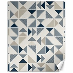 Geometric Triangle Modern Mosaic Canvas 16  x 20