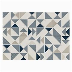 Geometric Triangle Modern Mosaic Large Glasses Cloth