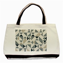 Geometric Triangle Modern Mosaic Basic Tote Bag (two Sides)