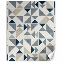 Geometric Triangle Modern Mosaic Canvas 11  X 14