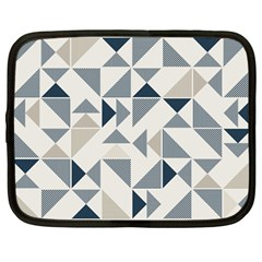 Geometric Triangle Modern Mosaic Netbook Case (large)