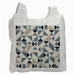 Geometric Triangle Modern Mosaic Recycle Bag (one Side)