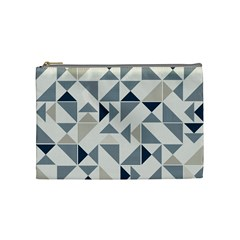 Geometric Triangle Modern Mosaic Cosmetic Bag (medium)