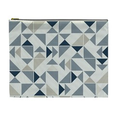 Geometric Triangle Modern Mosaic Cosmetic Bag (xl)