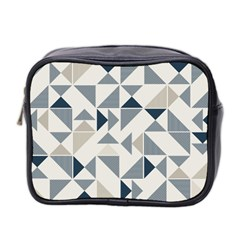 Geometric Triangle Modern Mosaic Mini Toiletries Bag 2 Side