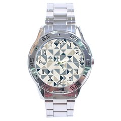 Geometric Triangle Modern Mosaic Stainless Steel Analogue Watch