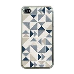 Geometric Triangle Modern Mosaic Apple Iphone 4 Case (clear)