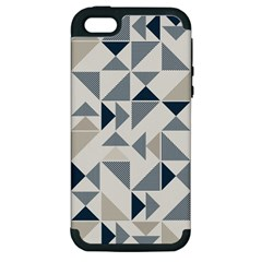 Geometric Triangle Modern Mosaic Apple Iphone 5 Hardshell Case (pc+silicone)
