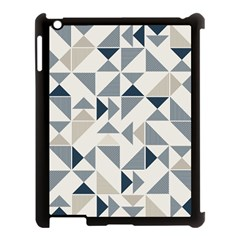 Geometric Triangle Modern Mosaic Apple Ipad 3/4 Case (black)