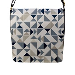 Geometric Triangle Modern Mosaic Flap Messenger Bag (l)