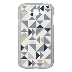 Geometric Triangle Modern Mosaic Samsung Galaxy Grand Duos I9082 Case (white)