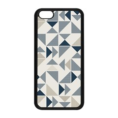 Geometric Triangle Modern Mosaic Apple Iphone 5c Seamless Case (black)