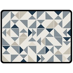 Geometric Triangle Modern Mosaic Double Sided Fleece Blanket (large)