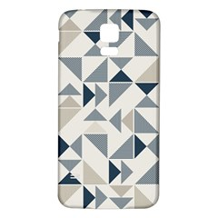 Geometric Triangle Modern Mosaic Samsung Galaxy S5 Back Case (white)